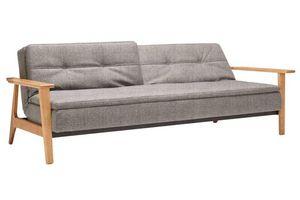 WHITE LABEL - innovation living canapé lit design dublexo frej t - Banquette Clic Clac