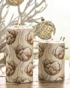 Pernici - peonia bianca - Bougie Ronde