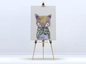 la Magie dans l'Image - toile mon petit renard vert - Impression Numérique Sur Toile