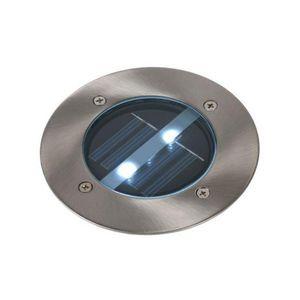 LUCIDE - spot extérieur encastrable rond solar led ip44 - Spot Encastré De Sol