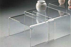 Marais International - tables gigognes en plexiglas - Tables Gigognes