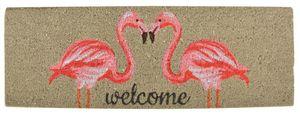 Esschert Design - tapis en fibres de coco motif flamands roses - Paillasson