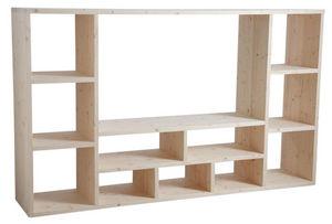 Aubry-Gaspard - meuble tv épicéa brut - Meuble Tv Hi Fi