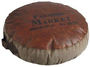 Aubry-Gaspard - grand coussin farmers market 50cm - Coussin Rond