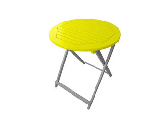 City Green - table de jardin pliante ronde burano - 65 x 74 cm - Table De Jardin Pliante