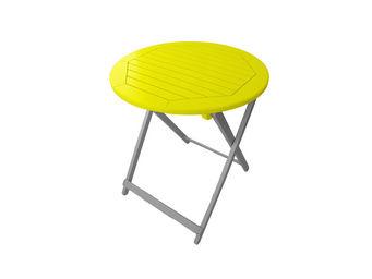 City Green - table de jardin pliante ronde burano - 65 x 74 cm - Table De Jardin Pliante