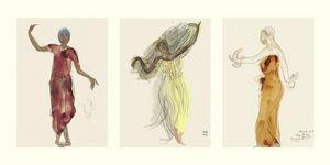 Nouvelles Images - affiche danseuses cambodgiennes - Affiche