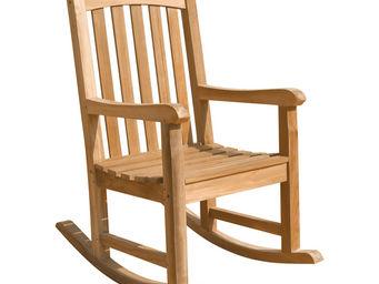 CEMONJARDIN - rocking chair en teck massif - Rocking Chair