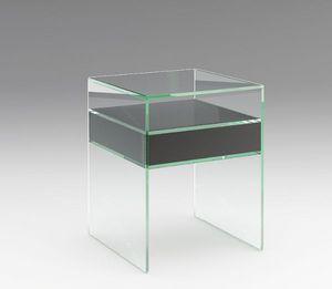 Marais International - verre coloré - Table De Chevet