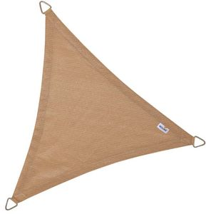 jardindeco - voile d'ombrage triangulaire coolfit sable 5 x 5  - Voile D'ombrage