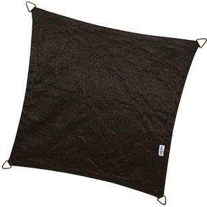 jardindeco - voile d'ombrage carrée coolfit noir 5 x 5 m - Voile D'ombrage