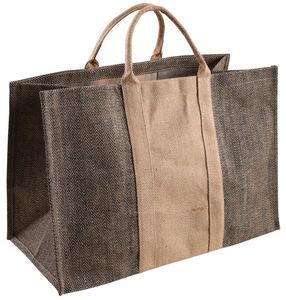 Aubry-Gaspard - sac à bûches en jute plastifiée bicolore - Sac À Buches
