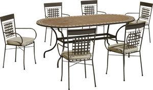 HEVEA - table de jardin et fauteuils altamira vigo - Salle À Manger De Jardin