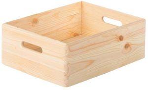 jardindeco - caisse en bois de rangement taille 2 - Caisse De Rangement