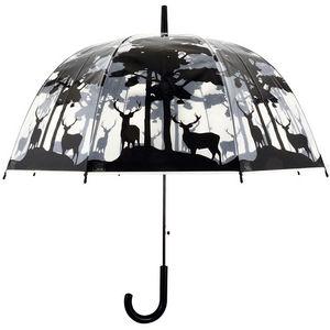 Esschert Design - parapluie transparent forêt - Parapluie