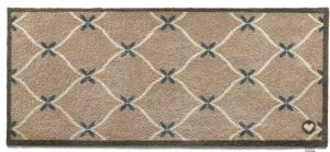 HUG RUG - tapis en fibres naturelles home cadrillage 65x150  - Paillasson