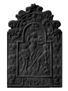 plaque de fonte -  - Plaque De Cheminée