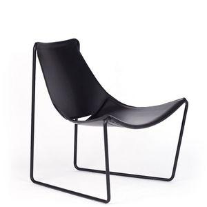 Midj - apelle - fauteuil en cuir - Fauteuil Bas