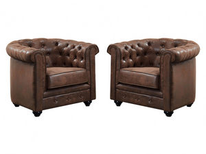 WHITE LABEL - fauteuil chesterfield - Fauteuil Club