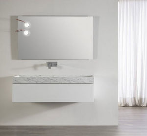 CasaLux Home Design - marmor 60 bl bril carrare 0t - Meuble Vasque