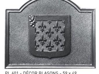 Stern - granitée + décor - Plaque De Cheminée