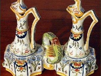 ANTIQUE GERMAIN - faience de quimper - Huilier Vinaigrier