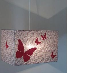 Voila Ma Maison - suspension xl liberty prune papillon - Suspension Enfant