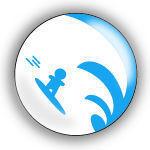 PICKTOGRAM - surfeur - Badge