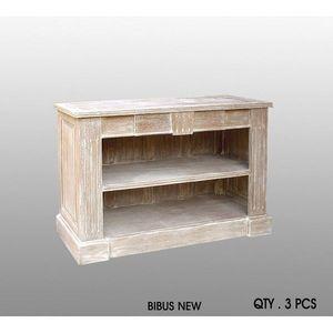 DECO PRIVE - meuble bibus new beige ceruse - Meuble Tv Hi Fi