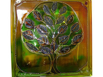 Painted glass blocks -  - Brique De Verre