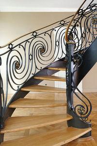 Atelier Benoît Hérouard - escalier balancé - Escalier Hélicoïdal