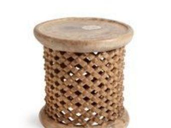 LODGE COLLECTION - bamileke naturel - Table Basse Ronde