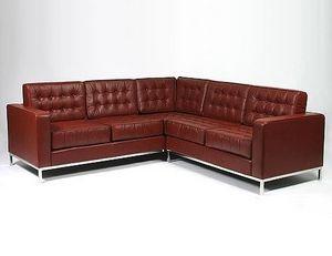 Abode Interiors - retro button corner sofa - Canapé D'angle