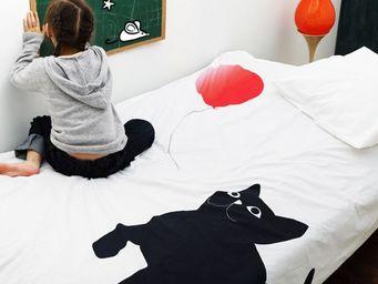 LYDIE BONNAIRE DESIGN TEXTILE - chat ballon - Housse De Couette Enfant