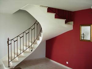PIERRES -  - Escalier Deux Quarts Tournant