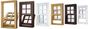 Eurocell Profiles - upvc vertical sliding sash windows - Fen�tre 1 Vantail