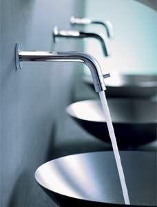TopEau.com - robinet lavabo, robinet hansanova-k � bec mural - Robinet Lave Mains