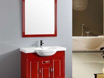 UsiRama.com - meuble salle de bain 1 vasque roige-2 1m - Meuble Vasque