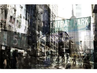 Magel'design - fifth avenue 120x80 cm , 3d effet relief - Tableau Contemporain