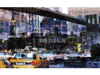 Magel'design - ny under bridge120x70 cm , 3d effet relief - Tableau Contemporain