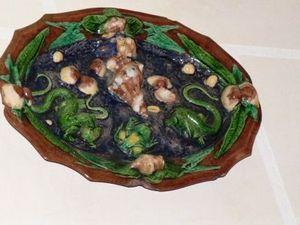Art & Antiques - plat du xixe dans le go�t de avisseau / palissy - Plat De Pr�sentation