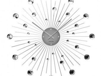 Karlsson Clocks - karlsson - horloge sunburst crystal large - karlss - Horloge Murale
