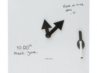 Karlsson Clocks - karlsson - horloge tableau blanc - karlsson - blan - Horloge De Cuisine