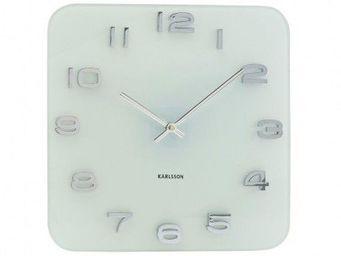 Karlsson Clocks - karlsson - horloge carré vintage - karlsson - blan - Horloge Murale