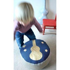 CREME ANGLAISE - crème anglaise - pouf enfant guitare or - crème an - Pouf Enfant