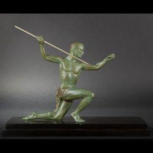 Expertissim - h. molins. lanceur de javelot en bronze - Sculpture