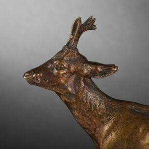 Expertissim - chevreuil en bronze par mène - Sculpture Animalière