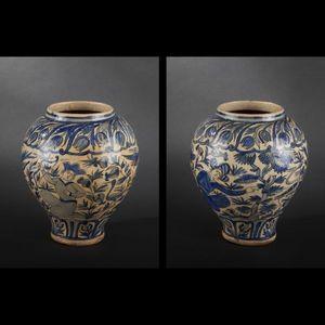 Expertissim - vase en céramique siliceuse. iran, de style qâjâr - Vase À Fleurs