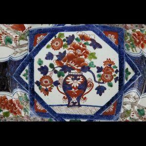 Expertissim - grand plat en porcelaine à décor imari - Plat Rond