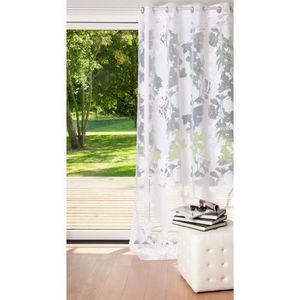 Maisons du monde - rideau illusion blanc - Rideaux À Oeillets